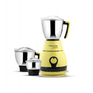 Butterfly Mixer Grinder Pebble Lemon Yellow 3Jar