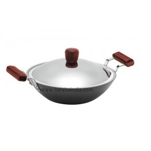 Hawkins Non Stick 2.5L Deep Fry Pan Flat QF26 With Lid