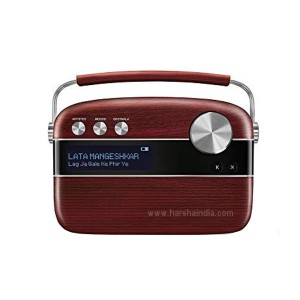 Saregama Caravaan Digital Music Player Cherrywood Red