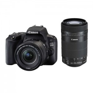 Canon Digital SLR Camera EOS 200D 18-55MM/55-250MM IND