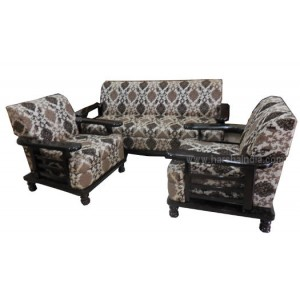 GW Teakwood Sofa Set Dorian Rose Color