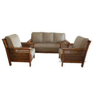 GW Teakwood Sofa Set Reeper Natural