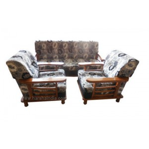 GW Teakwood Sofa Set Dorian Natural