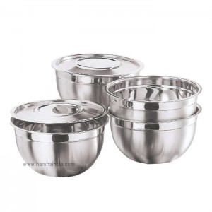 Kraft Bowl With Cover 4PCS