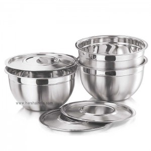 Kraft Bowl With Cover 3PCS