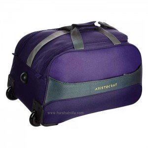 Aristocrat Duffle Strolley Bag Draft DFT 55 Purple