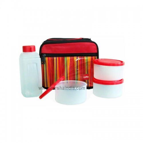 Cello Lunch Pack Soft Touch Go 4 Eat 3 Container