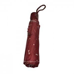 Popy Umbrella Cherry Silver Print 545mm