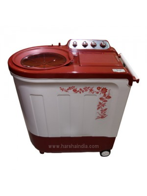 Whirlpool Washing Machine Semi Twin Tub Ace 8.5 Turbo Dry 8.5KG Flora Red