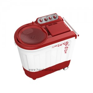 Whirlpool Washing Machine Semi Twin Tub Ace 7.5 Turbo Dry 7.5KG Flora Red