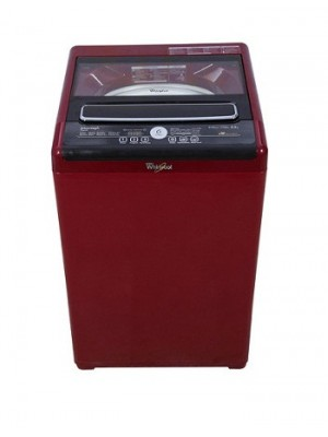Whirlpool Washing Machine Auto Top Loader Royale 6512SD Wine Chrome Tinted 6.5 KG