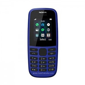 Nokia Cell Phone 105 SS Blue 4Th Edition