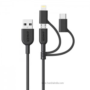 Anker Charging Cable Powerline 2 USB A To 3 In 1 A8436