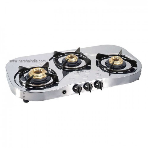 Glen Gas Stove 3 Burner GL-1035 SS HF BB AI