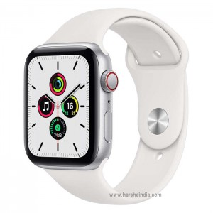 Apple Watch Series SE GPS+Cellular 44MM Silver Aluminium Case With White Sport Band MYEV2HN/A
