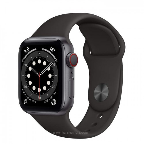 Apple Watch Series 6 GPS+Cellular 40mm Space Gray Aluminium Case With Black Sport Band MO6N3HN/A