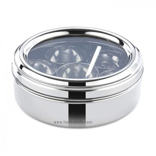 Butterfly SS Masala Dubba No 2 With Glass Lid